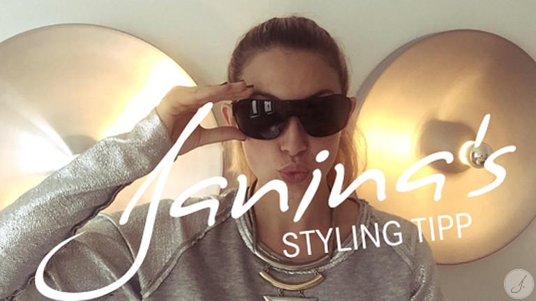 Janina's Styling Tipp: Monoscheiben Sonnenbrillen