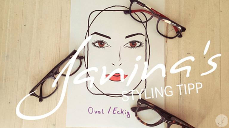 Janina's Styling Tipp: Brillen für ovale und eckige Gesichter