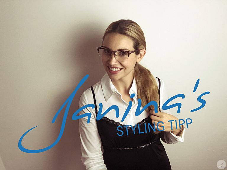Janinas's Styling Tipp: Halbrand Brillen