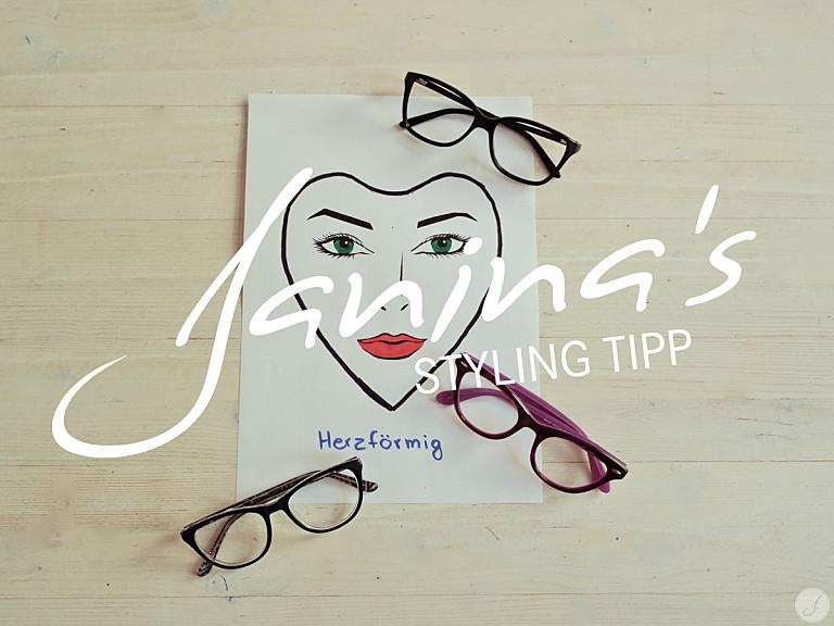 Janina's Styling Tipp: Brillen für herzförmige Gesichter