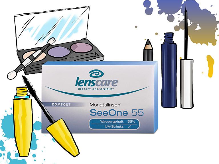 Augen-Make-up für Kontaktlinsenträgerinnen