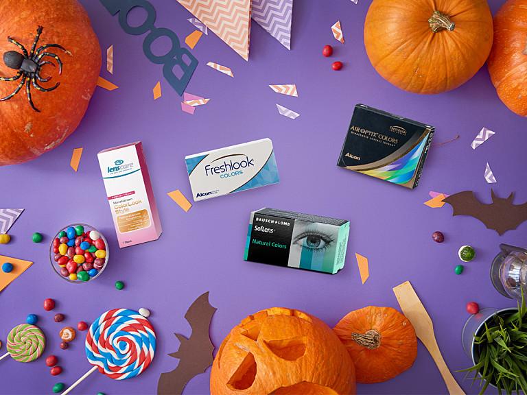 4 Halloween Looks mit farbigen Kontaktlinsen