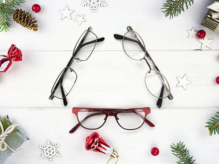 Drei Santa Claus Brillen
