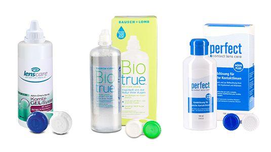 Pflegemittel für Kontaktlinsen mit Feuchtigkeitsspeicher