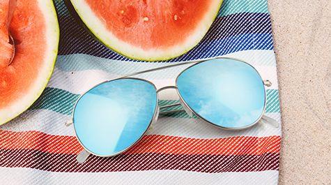 Moderne verspiegelte Sonnenbrille für Damen und Herren