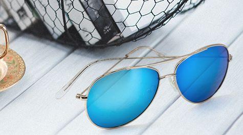 Bunte Piloten Sonnenbrille für Damen und Herren