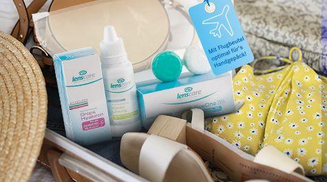 Kontaktlinsen-Pflegemittel von Lensbest im praktischen Reiseset