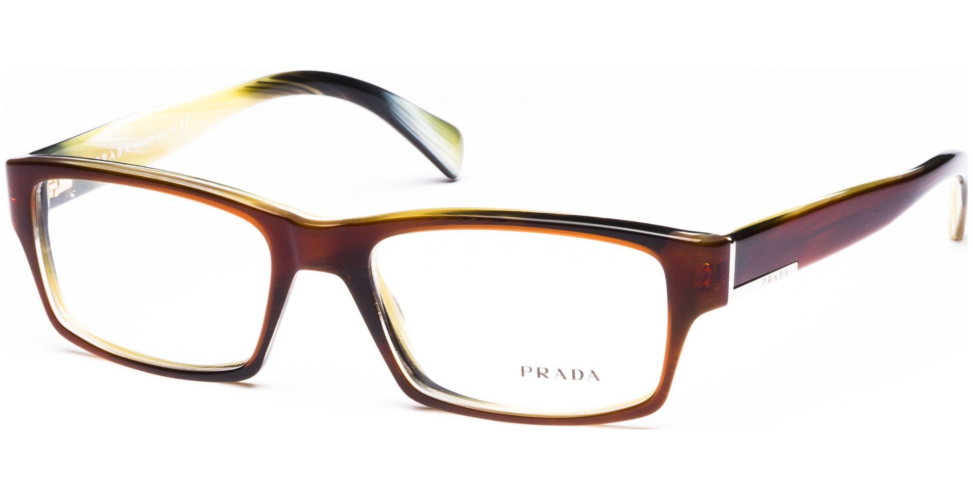 Prada - PR06OV EAP1O1 5317 Top Striped Brown/Horn - von Lensbest