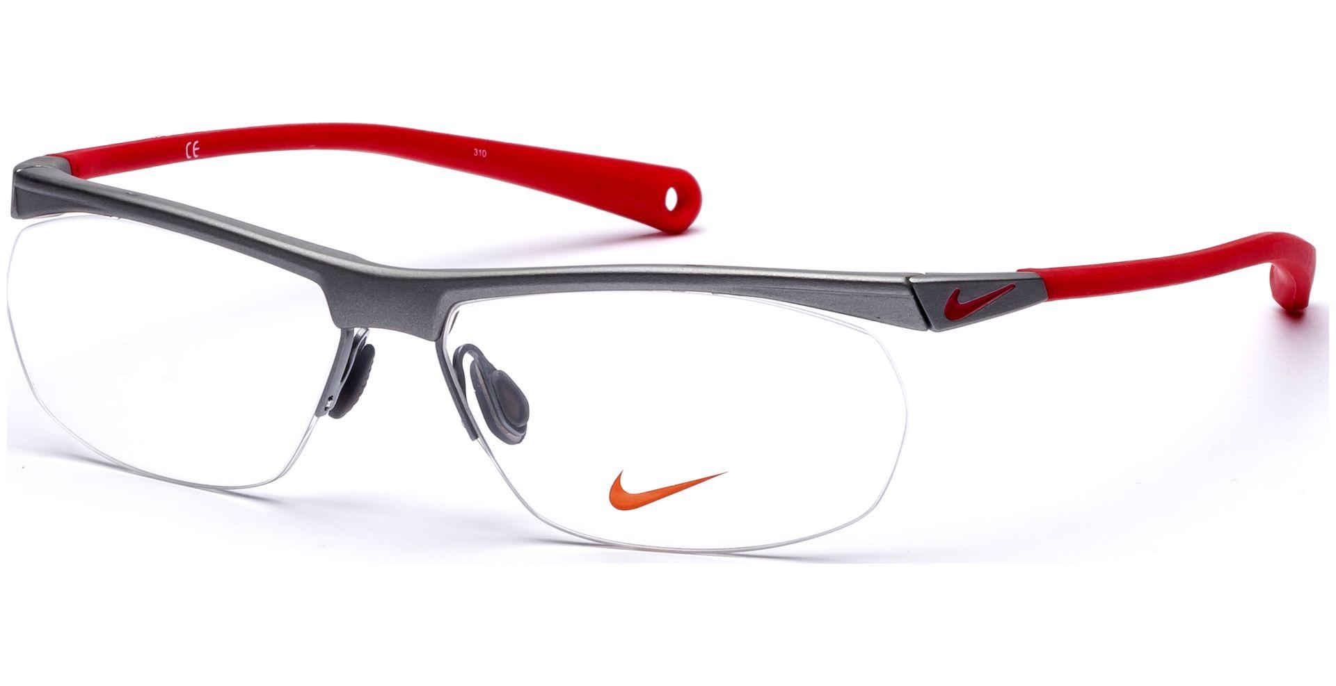 Nike - 7072/1 048 5714 Matte Platinum/Hyper Red - von Lensbest
