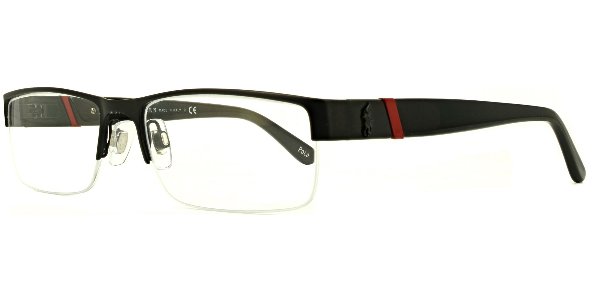 Polo - Ralph Lauren - PH1117 9038 5417 Matte Black / Red - von Lensbest