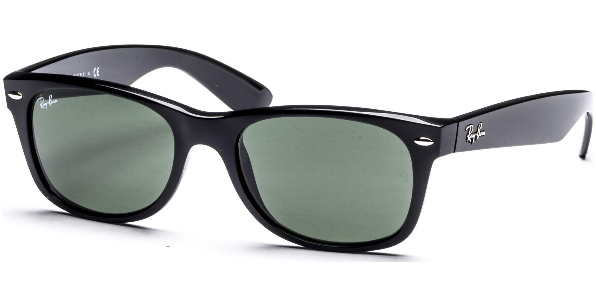 Ray-Ban - New Wayfarer 2132 901 5218 Black/Crystal Green - von Lensbest