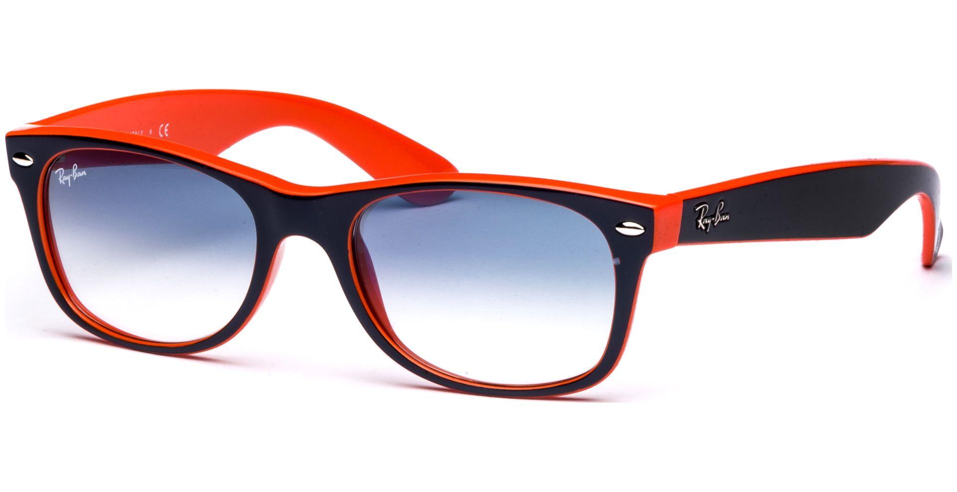 Ray-Ban - New Wayfarer 2132 789/3F 5218 Top Blue Orange/Crystal ...