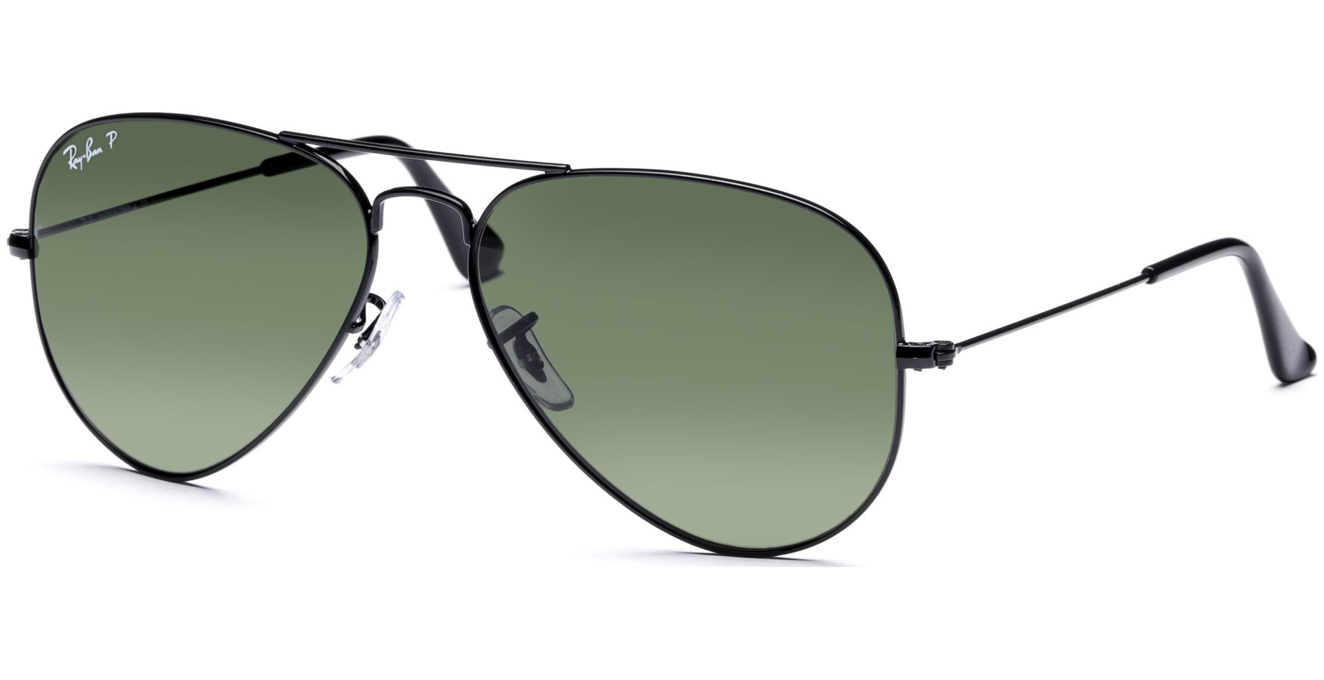 7d9c5019d358ca Ray-Ban - Aviator Metal Medium 3025 002 58 5814 Black Crystal Green ...