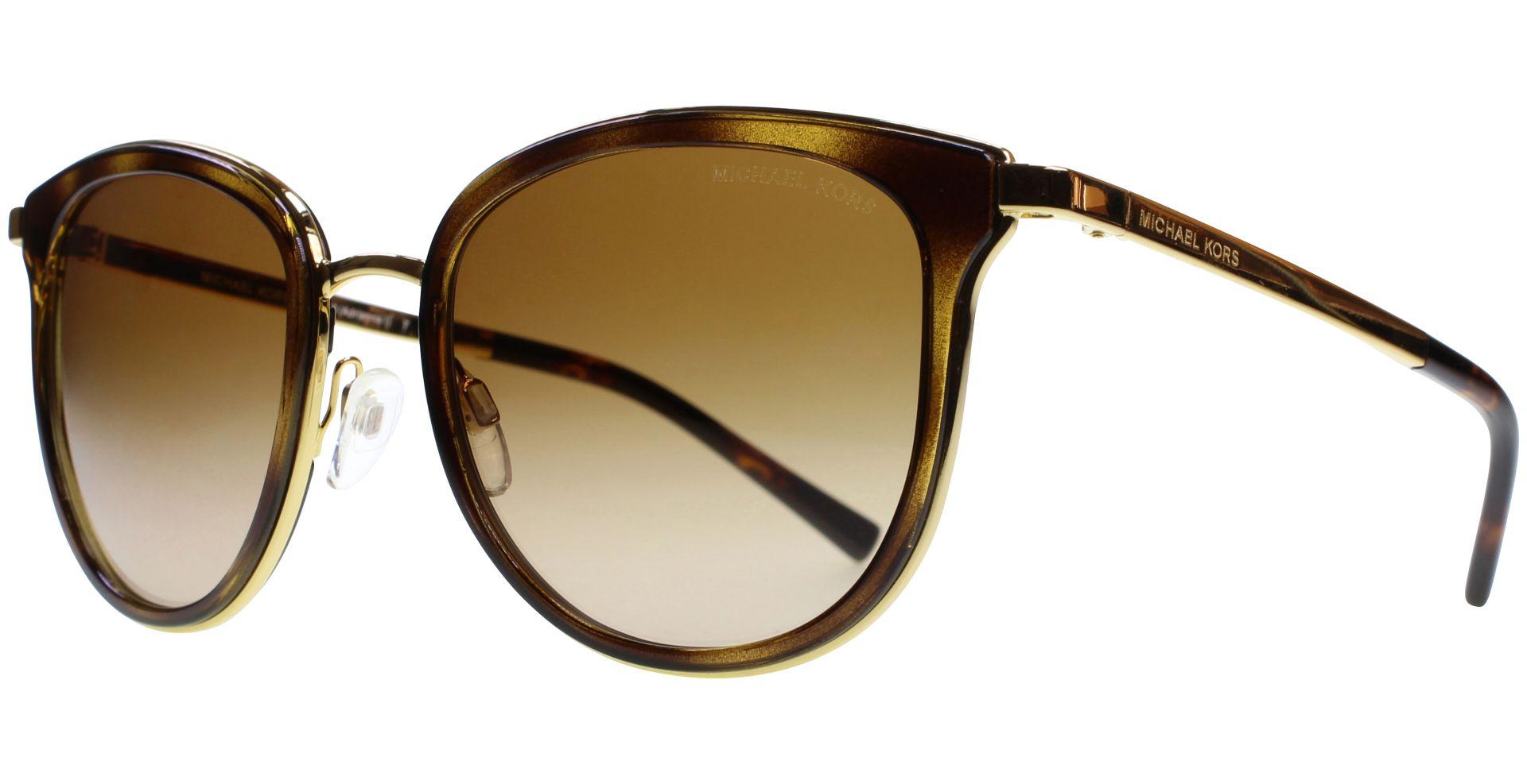 Michael Kors Adrianna I Sonnenbrille Gold und Tortoise 110113 54mm gnU6XXbnIY