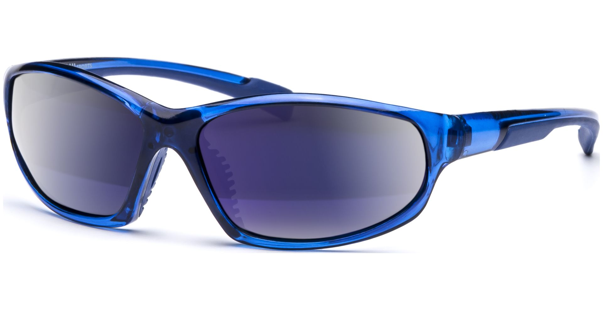 Sonnenbrillen Sonnenbrillen Transparente Rahmen Blaue Scheibe RLeQ86f