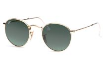 Round Metal 3447 001 4721 Arista/Crystal Green von Ray-Ban