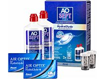 AIR OPTIX plus HydraGlyde AOSept Plus 2er Set von Alcon