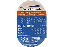 SofLens daily disposable For Astigmatism 30er Box von Bausch & Lomb