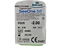SeeOne 58 Tageslinsen 5er Box von Lenscare