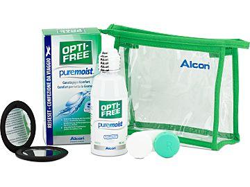 OPTI-FREE pure moist Reise-Set 90 ml mit Handspiegel von Alcon