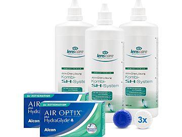 AIR OPTIX plus HydraGlyde for Astigmatism Kombi-SH-System 3er Set von Alcon