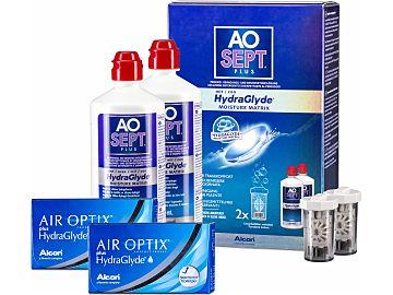 AIR OPTIX plus HydraGlyde AOSept Plus 2er Set von Alcon