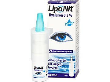 Lipo Nit Hyaluron 0,3% pump Augentropfen von Optimapharma