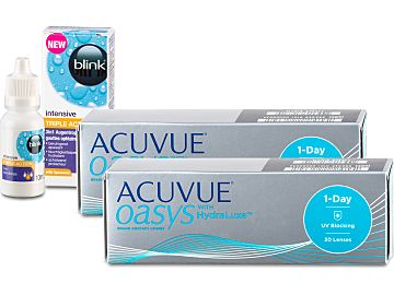 ACUVUE OASYS 1-Day (2x30) + blink intensive TRIPLE ACTION 10ml von Johnson & Johnson
