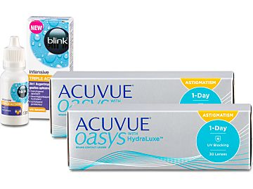 ACUVUE OASYS 1-Day astigmatism (2x30) + blink intensive TRIPLE Action 10ml von Johnson & Johnson