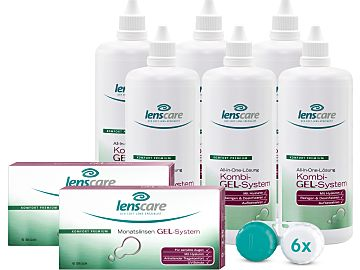 Lenscare GEL-System Monatslinsen 6er-Set