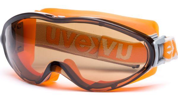 Überbrille ultrasonic 9302.247 orange/grau von Uvex Arbeitsschutz