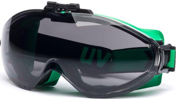 Überbrille ultrasonic flip-up 9302.043 grün/schwarz von Uvex Arbeitsschutz