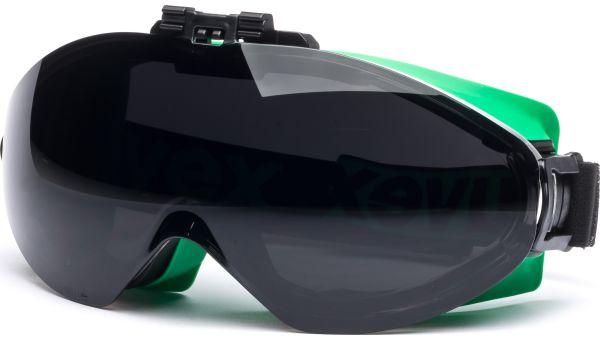 Überbrille ultrasonic flip-up 9302.045 grün/schwarz von Uvex Arbeitsschutz