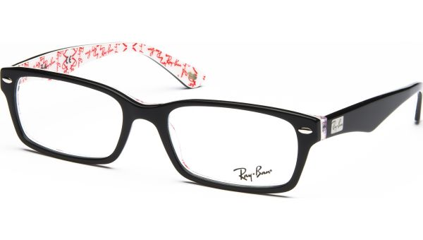 RX5206 5014 5418 Top Black on Texture White von Ray-Ban