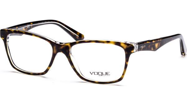 VO2787 1916 5316 Top Havana/Transparent von Vogue