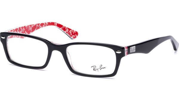 RX5206 2479 5218 Top Black on Texture Red von Ray-Ban