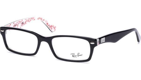RX5206 5014 5218 Top Black on Texture White von Ray-Ban