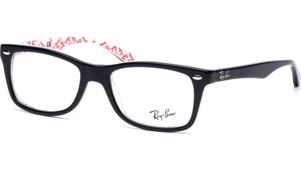 RX5228 5014 5017 Top Black on Texture White von Ray-Ban