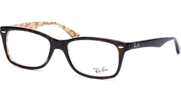 RX5228 5057 5317 Top Dark Havana on Text Beige von Ray-Ban
