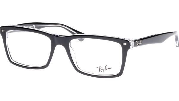 RX5287 2034 5418 Top Black on Transparent von Ray-Ban