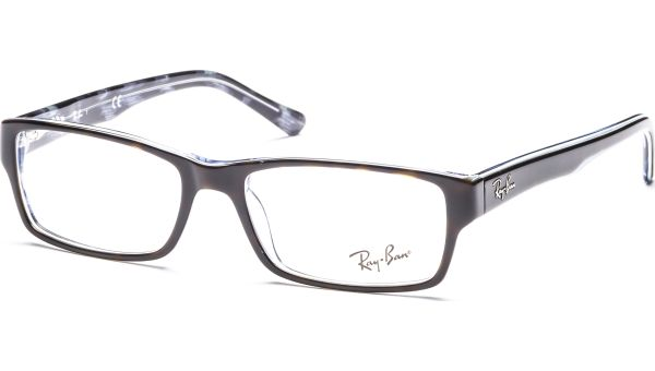 RX5169 5023 5416 Top Havana on Transparent Azure von Ray-Ban