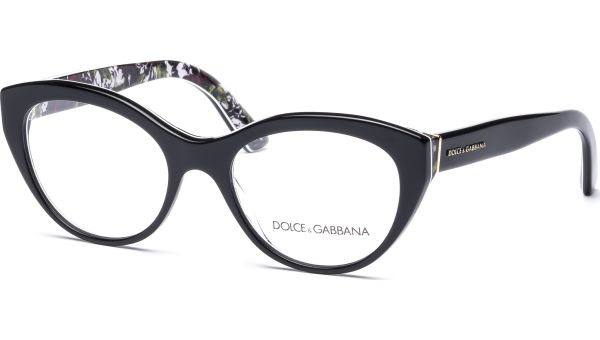 DG3246 3021 5118 Top Black / Rose Print von DOLCE&GABBANA
