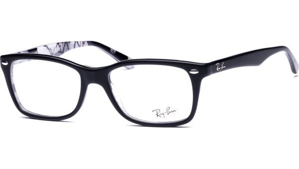 RX5228 5405 5317 Top Mat Black On Tex Camuflage von Ray-Ban