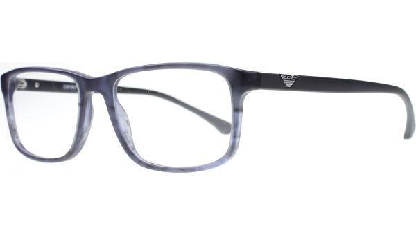 EA3098 5549 5518 Matte Striped Blue von Emporio Armani