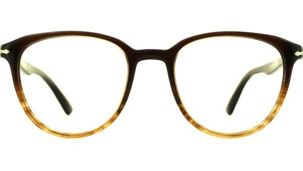 PO3176V 1026 5019 Black / Stripped Brown von Persol