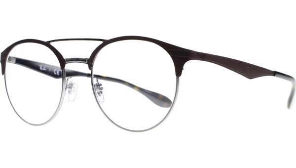 RB3545V 2912 5120 Gunmetal / Matte Brown von Ray-Ban