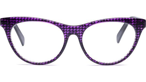 Lilja 5216 lila/transparent/schwarz von Lennox Eyewear