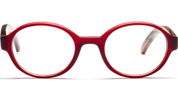 Aira 4821 rot transparent matt/braun von Lennox Eyewear