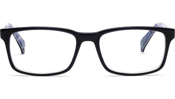 Evert 5518 blau/transparent/paisley von Lennox Eyewear