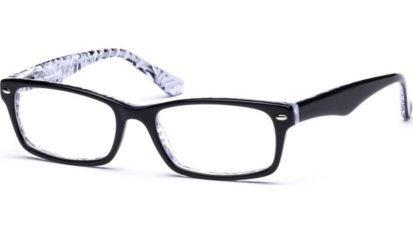 Hilja 5418 schwarz/weiß-transparent von Lennox Eyewear